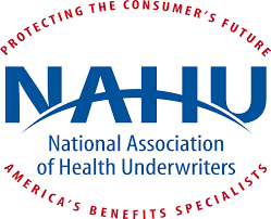 Logo for National Association of Health Underwriters indicating company information