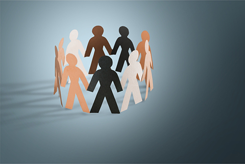Artwork of paper group of people representing Employee Benefits Commercial Insurance