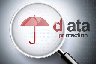 photo of umbrella over the words data to indicate cyber liability commercial insurance